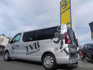 Im Oktober 2016 übergaben wir den neuen Opel Vivaro an den Verein TVB Schöningen.