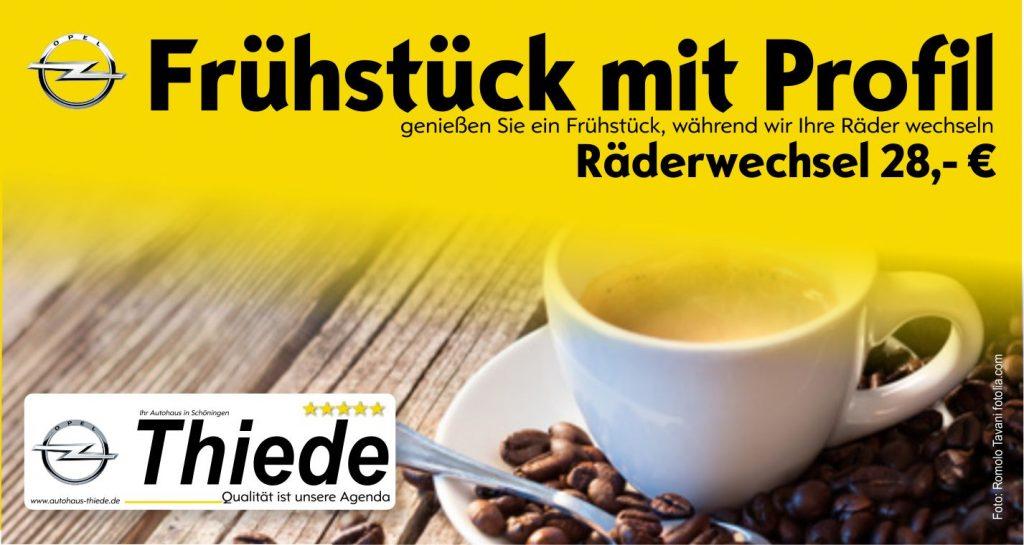 Frühstück mit Profil Räder-/Reifenwechsel im Autohaus Thiede