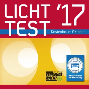 Holen Sie sich die kostenlose Licht-Test-Plakette 2017 im Autohaus Thiede