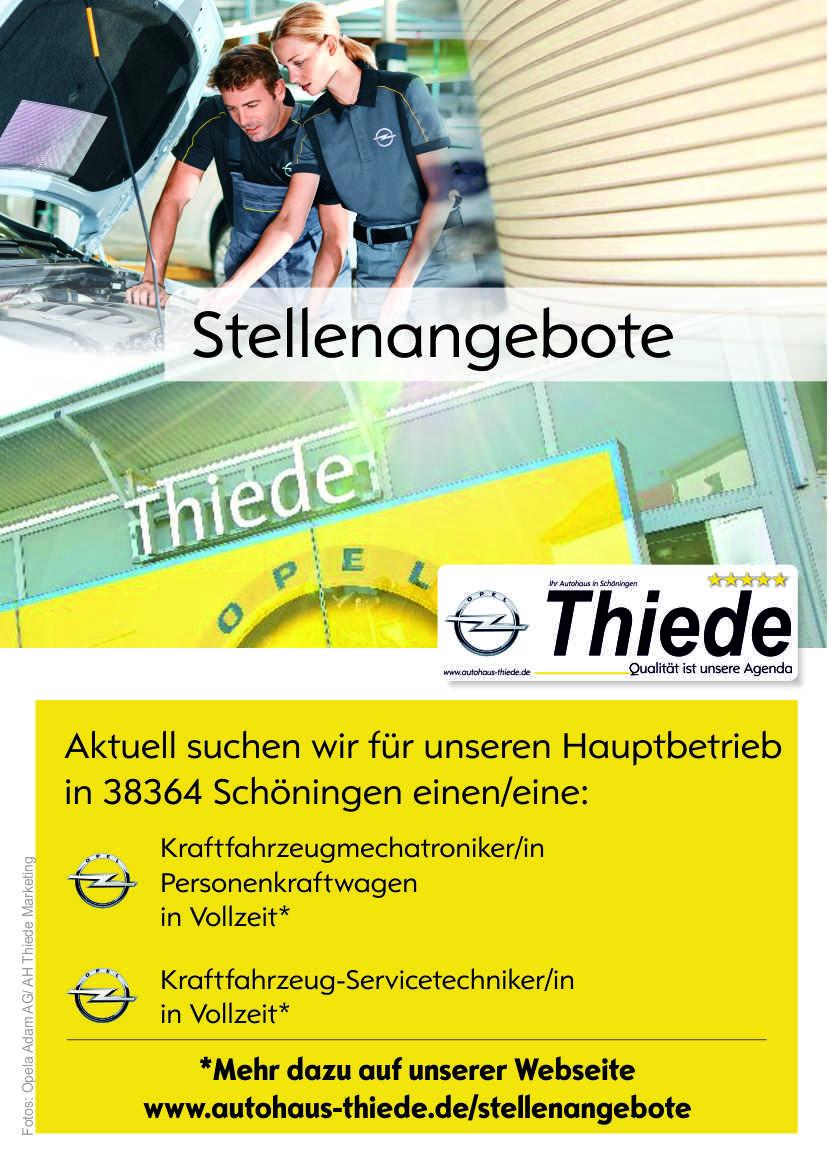 Job-Stellen-Angebot-Werkstatt-Autohaus-Thiede