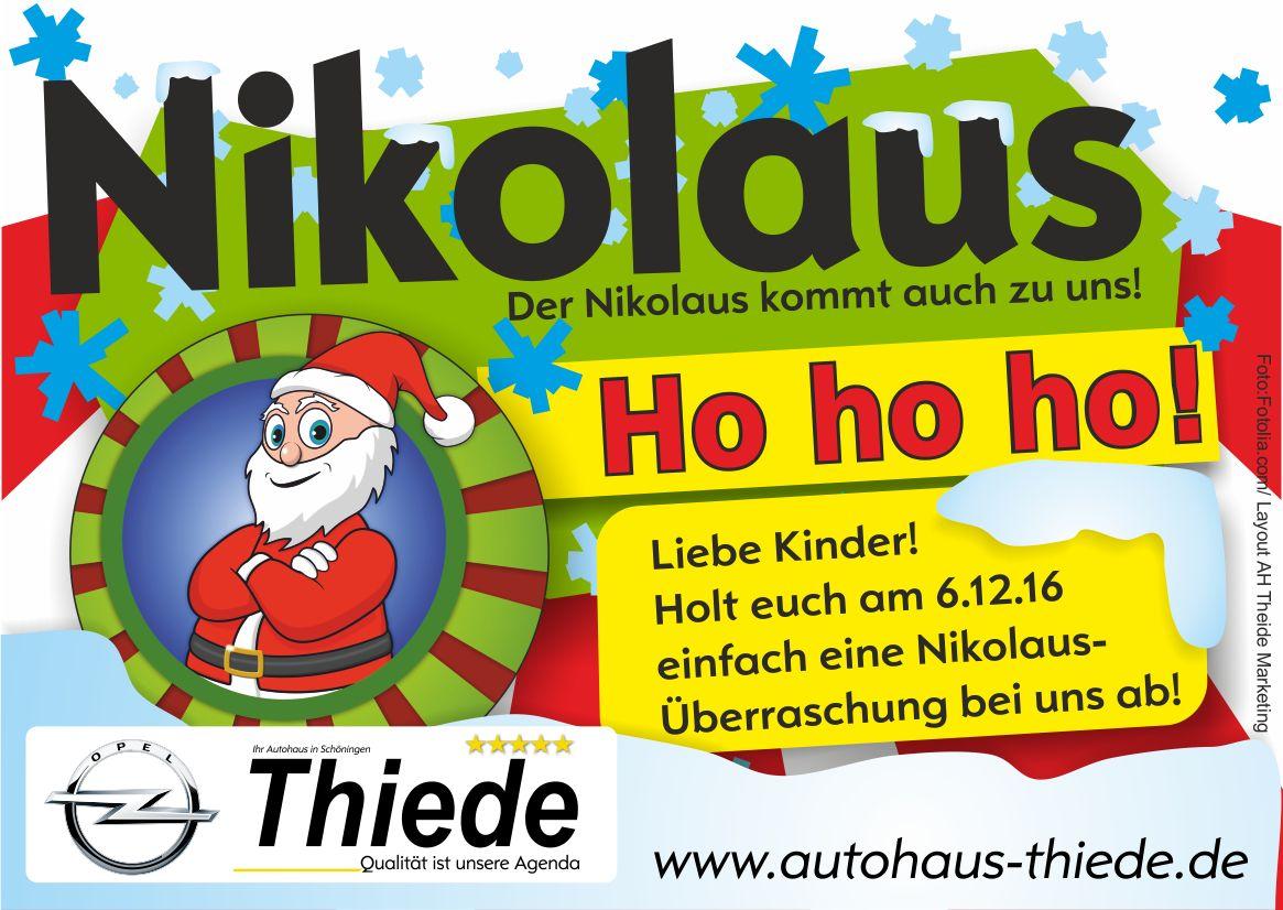 Nikolaus im Autohaus Thiede Schöningen