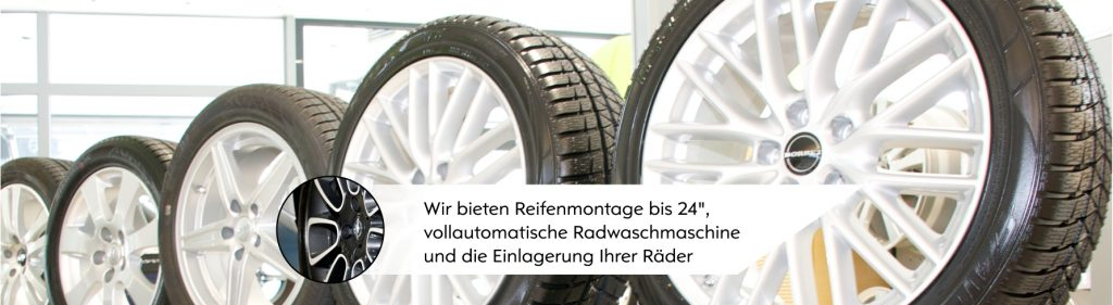 Räder-Shop im Headquarter Autohaus Thiede GmbH. Opel Partner seit über fünfzig Jahren.