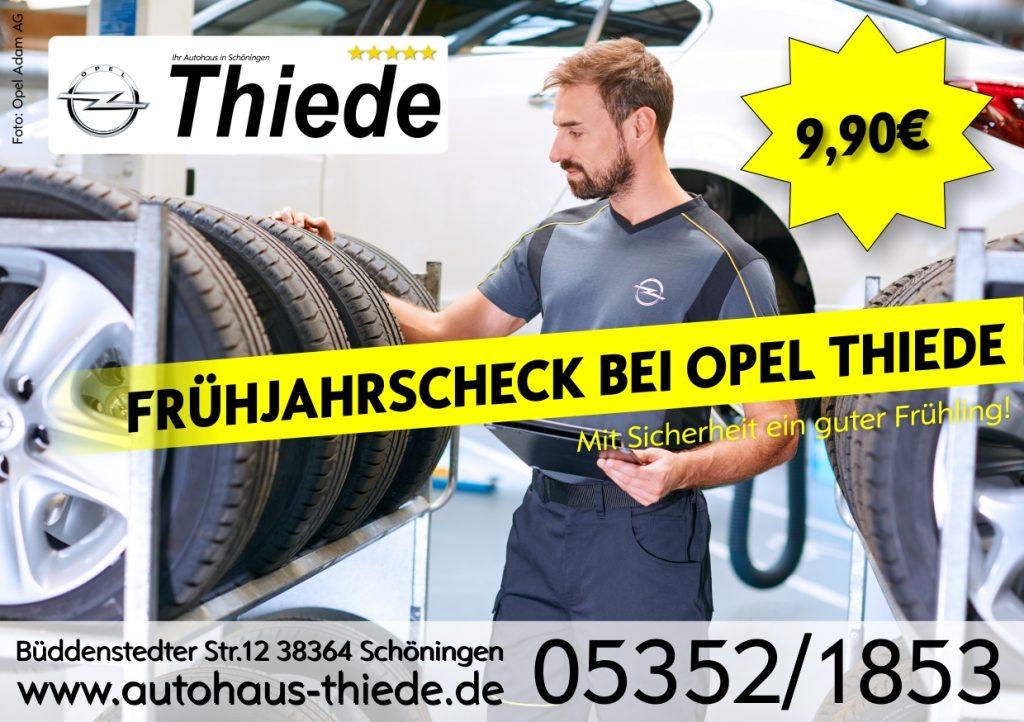 Frühjahrs-Check Opel Thiede Radewechsel Radeinlagerung