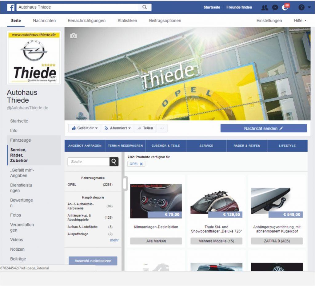 Autohaus Thiede auf Facebook & YouTube