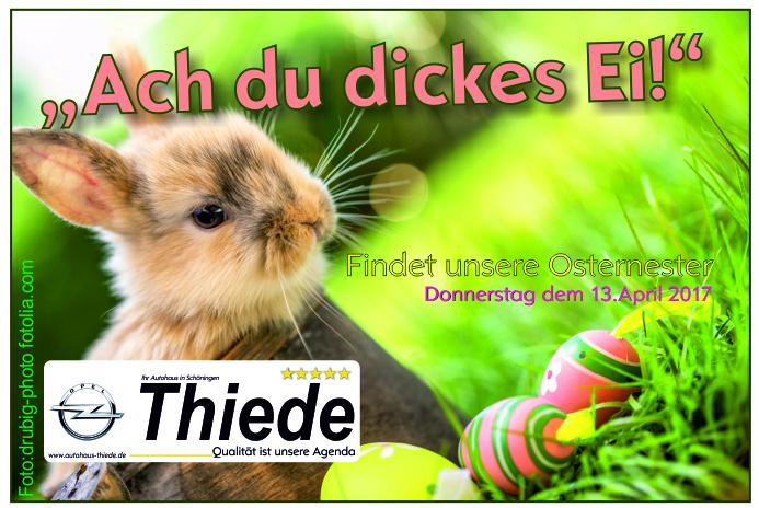 Osternnester-Suche im Autohaus Thiede in Schöningen - Aktion für unsere jungen Kunden