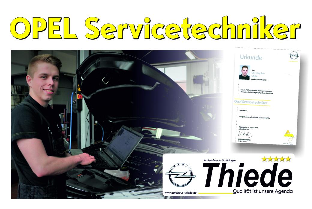 Servicetechniker Autohaus Opel Thiede Christopher Uhde