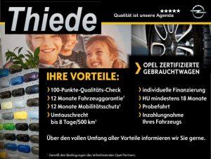 Opel zertifizierte Gebrauchtwagen Autohaus Thiede GmbH