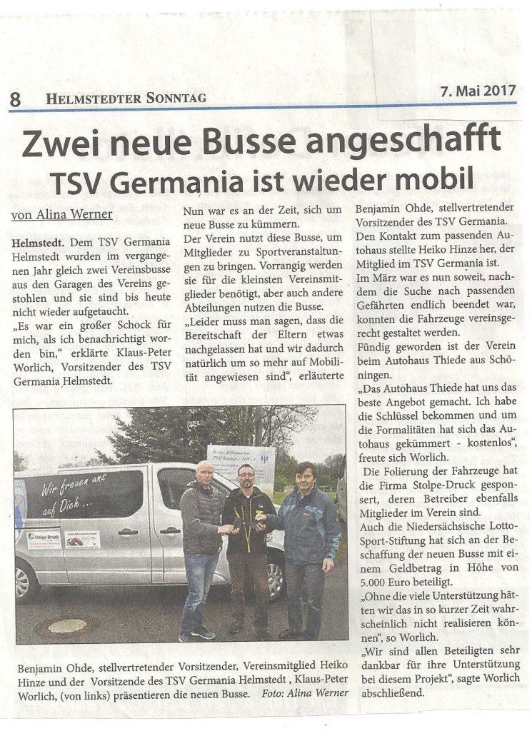HESO TSV G Vivaro Übergabe 07052017 HESO Artikel