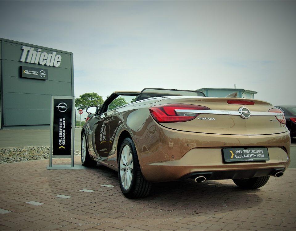 Opel Cascada Gebrauchtwagen Autohaus Theide von hinten