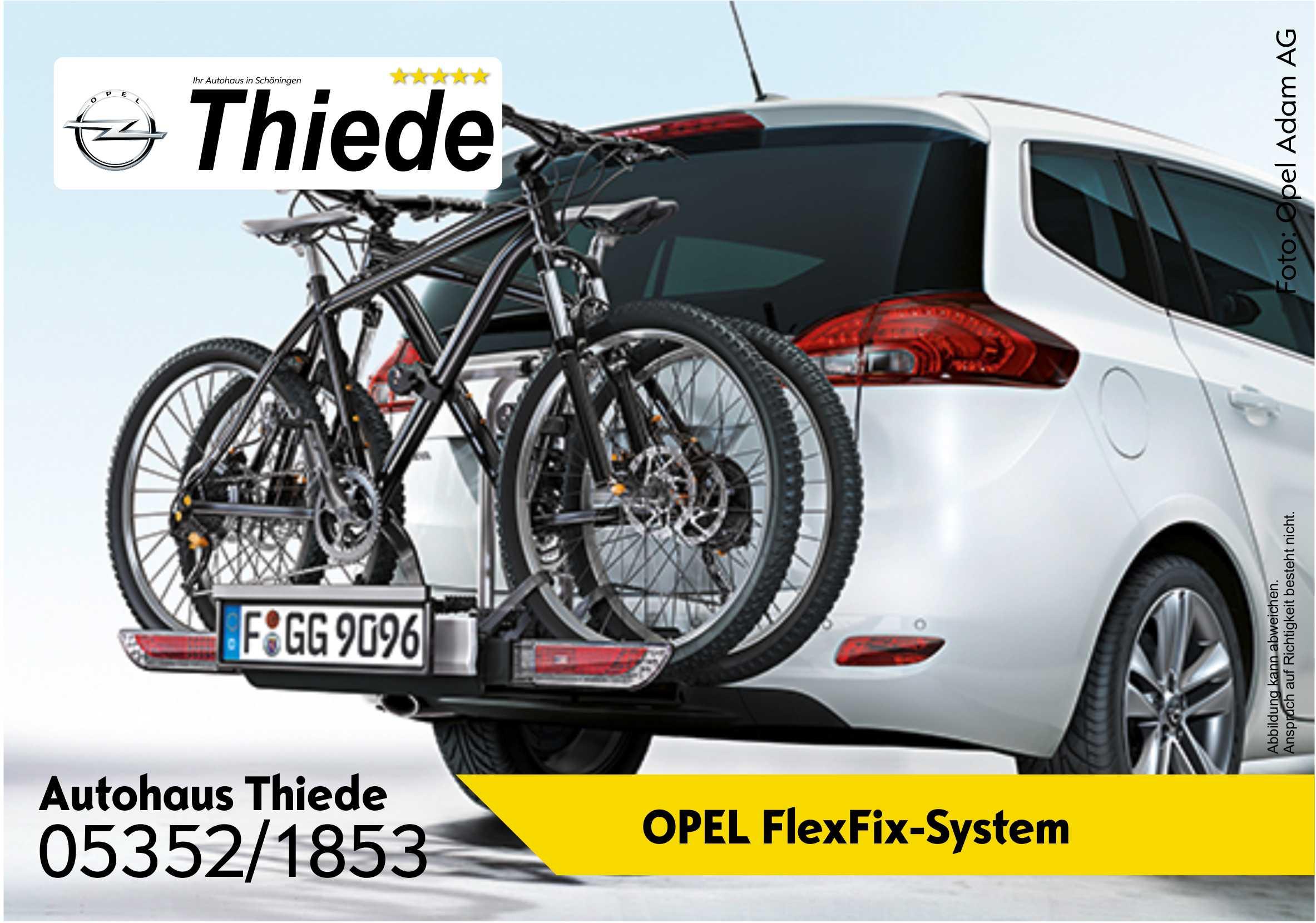 opel flexfix system integrierter fahrradtr ger autohaus. Black Bedroom Furniture Sets. Home Design Ideas
