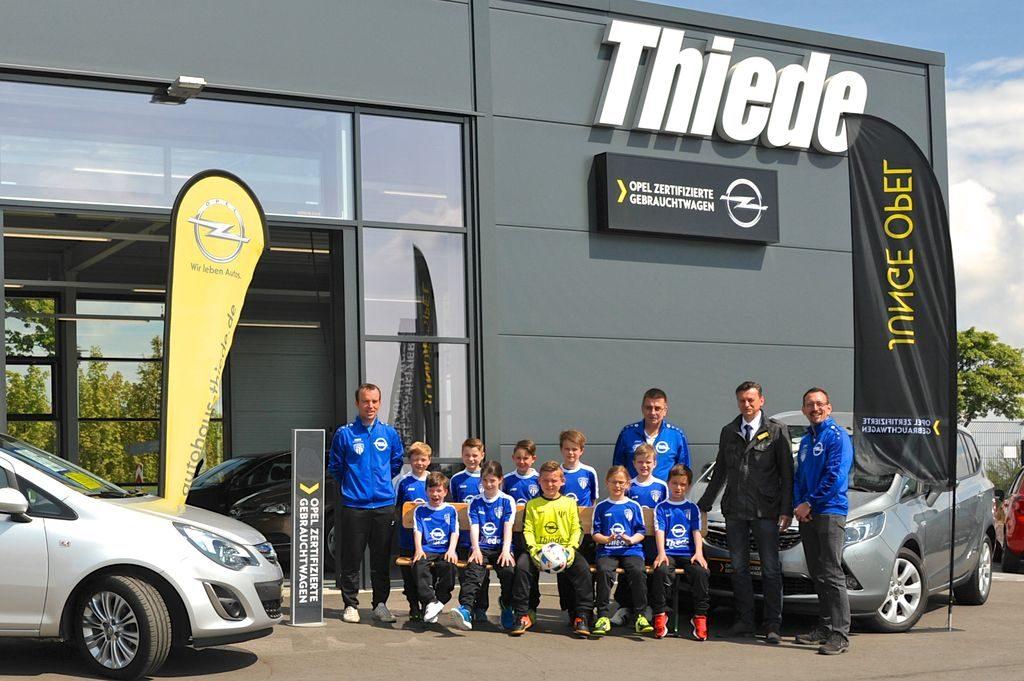TSV Germania F-Jugend Sponsoring Autohaus Opel Thiede Schöningen