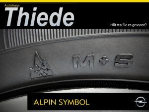 Alpin Symbol M+S Winterreifen Räderwechsel Sommer Winter Herbst
