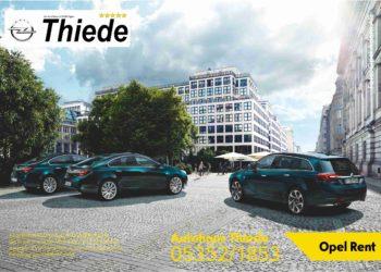 Opel Rent Miet- und Leihwagen Autohaus Thiede 05352/1853