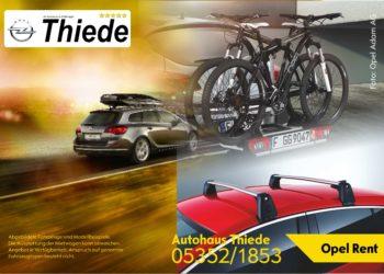 Opel Rent Miet- und Leihwagen Dachträger Dachoboxen Fahrradträger Autohaus Thiede 05352/1853