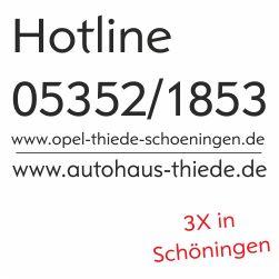 Opel Thiede GmbH Opel Vertragspartner Hotline 05352/1853 www.autohaus-thiede.de oder www.opel-thiede-schoeningen.de