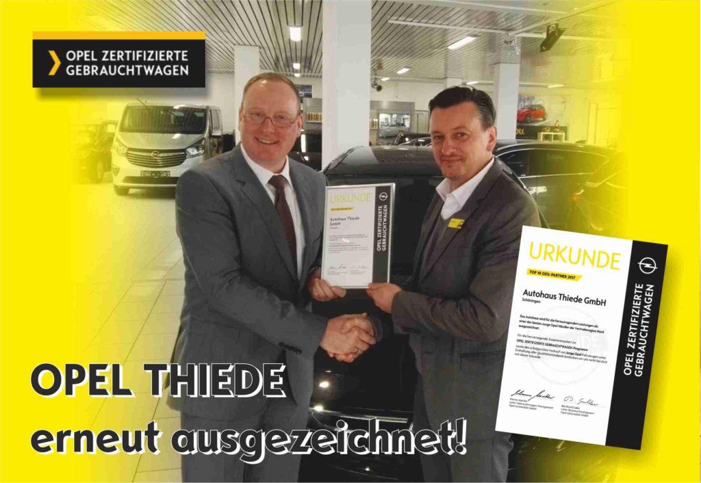 Auszeichnung Opel zertifizierte Gebrauchtwagen Opel Thiede Schoeningen JUNGE OPEL Mietwagen Leasing