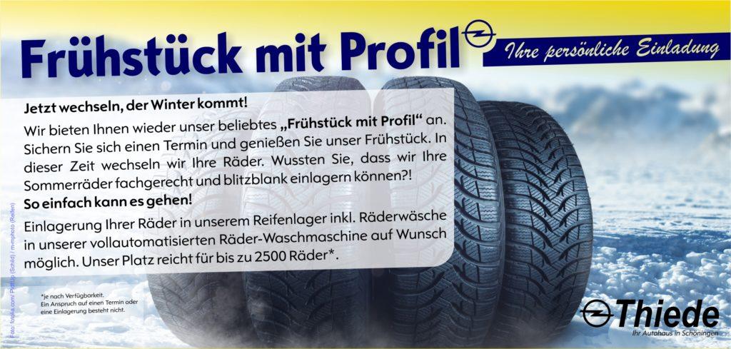 Frühstück mit Profil - Räderwechsel im Autohaus Thiede