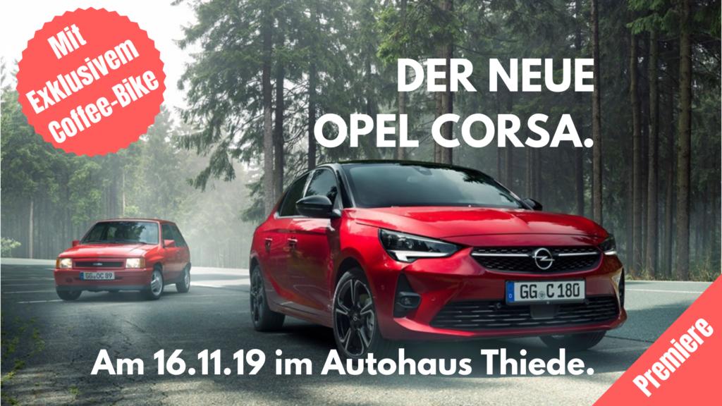 Opel Corsa Vorstellung am 16 November im Autohaus Thiede