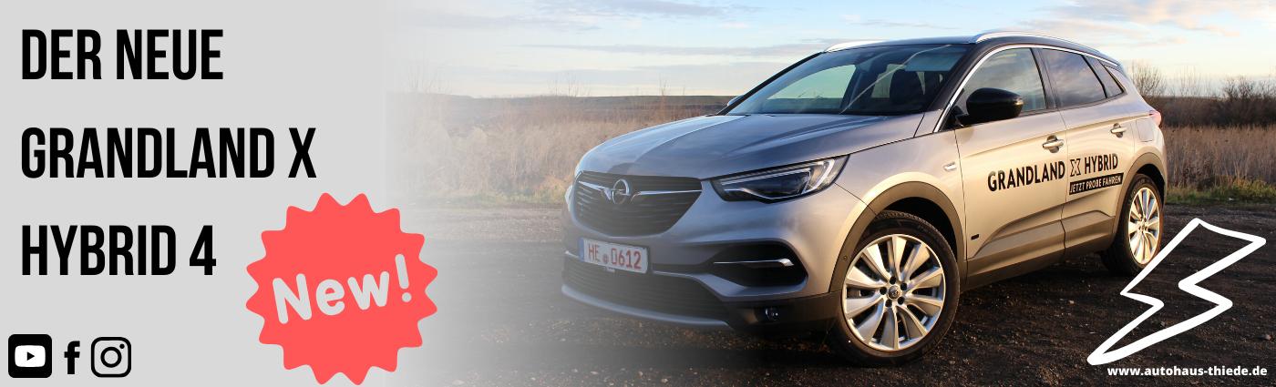 Opel Grandland X Hybrid4 mit 300PS und allrad. Elektro SUV von Opel i Autohaus Thiede