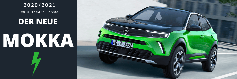 Der neue Opel Mokka 2021 bei Autohaus Thiede. Opel Mokka-e elektrisch